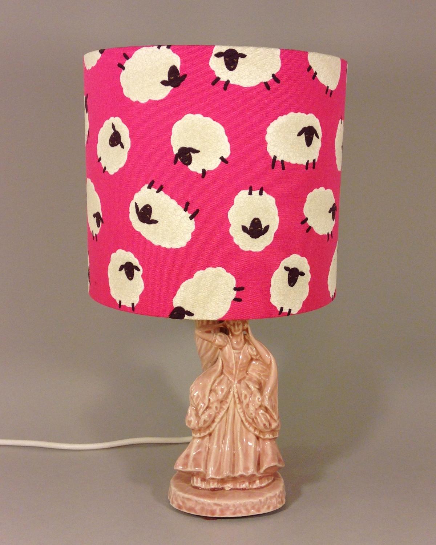 Bo Peep vintage lamp with handmade shade