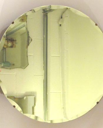 Round bevel edged vintage mirror