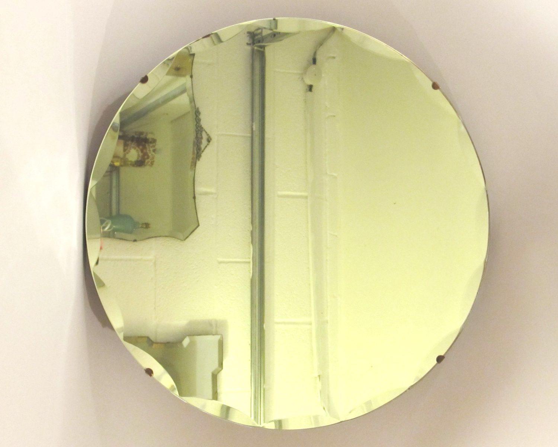 Round Bevelled Edged Mirror 12.2cm.