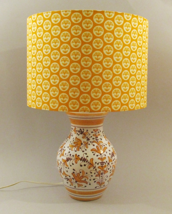 Sunny Afternoon vintage lamp with handmade shade.