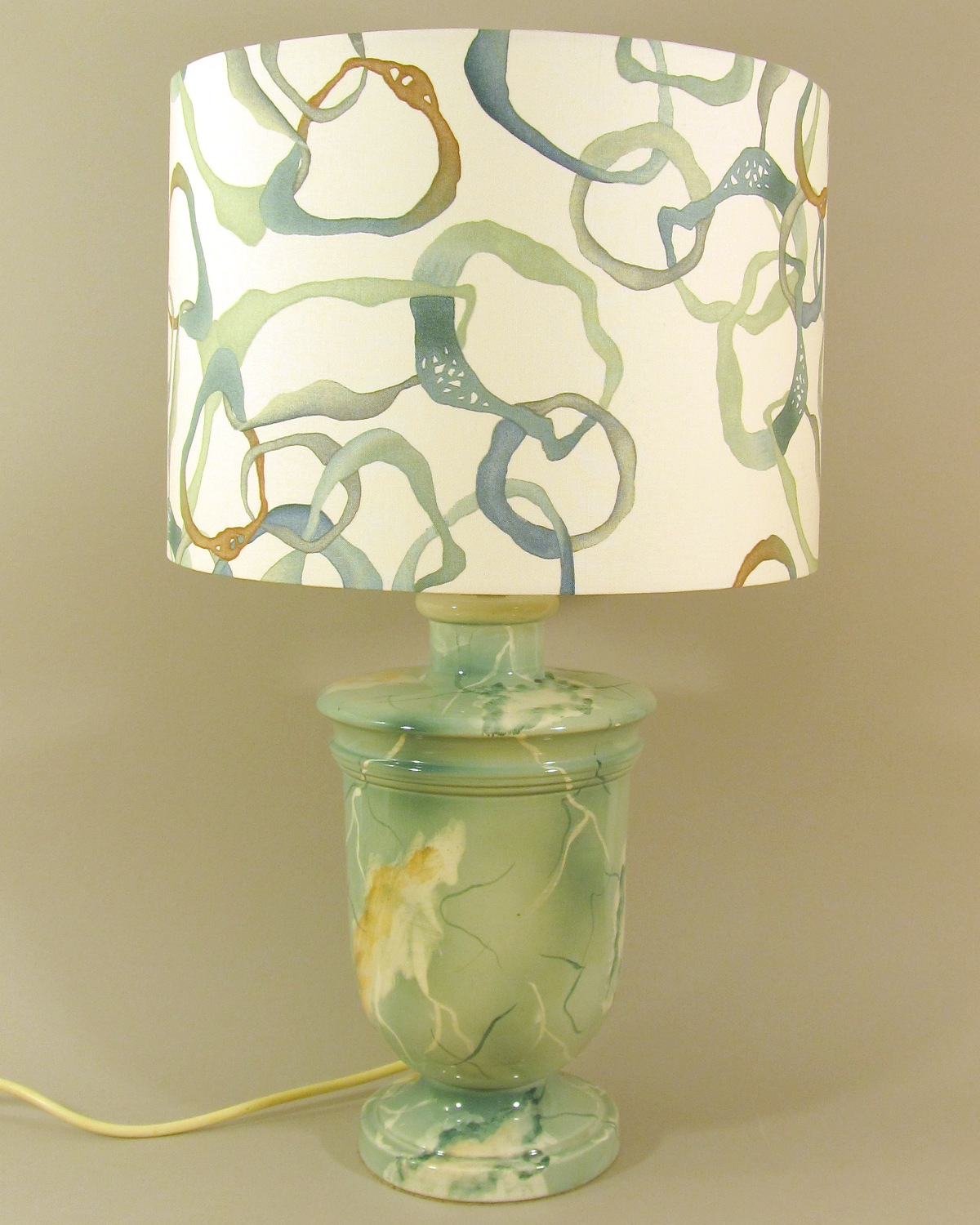 Electric dreams vintage lamp with handmade shade
