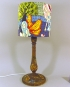 Fairytale vintage lamp with handmade shade