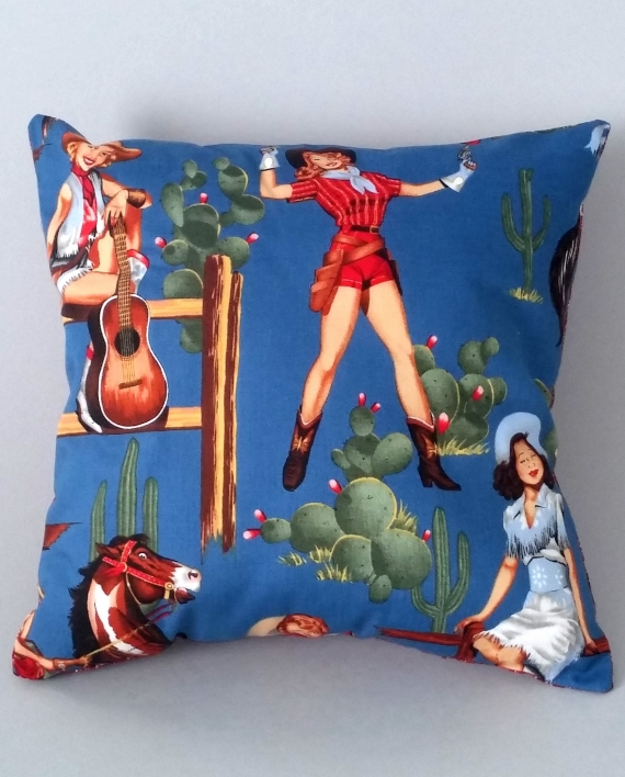 'Holy Cowgirl' Scatter Cushion - side 1