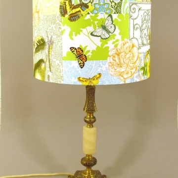 Parisienne vintage lamp with handmade shade