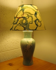 Electric Dreams 2 vintage lamp with handmade shade