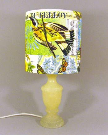 Bird of Paris vintage lamp with handmade shade