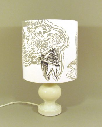 Camanda of the Animal Army vintage lamp with handmade lampshade