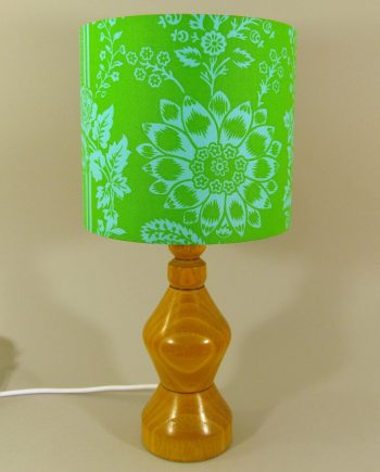 Happyland vintage lamp with handmade shade