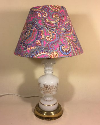 Perfect Paisley vintage lamp with handmade shade