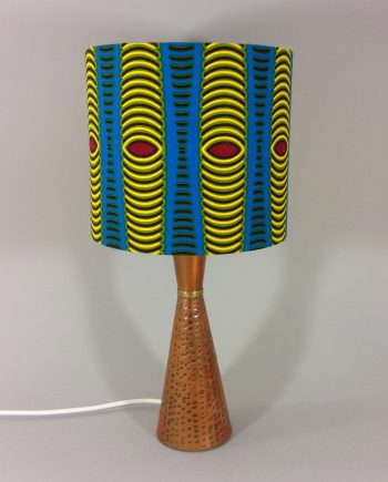 African Ankara vintage lamp with handmade shade