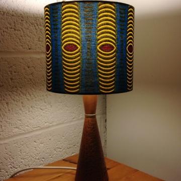 African Ankara vintage lamp with handmade shade