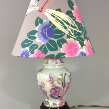 'Chinese Peony' vintage lamp