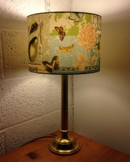 Papillon & Poire vintage lam with handmade shade