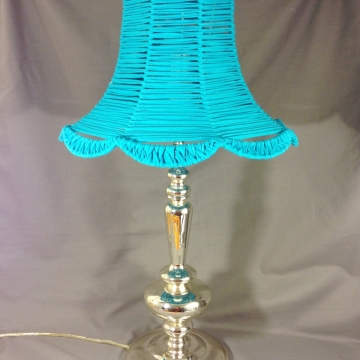 Silver Lining lamp with upcycled vintage shade