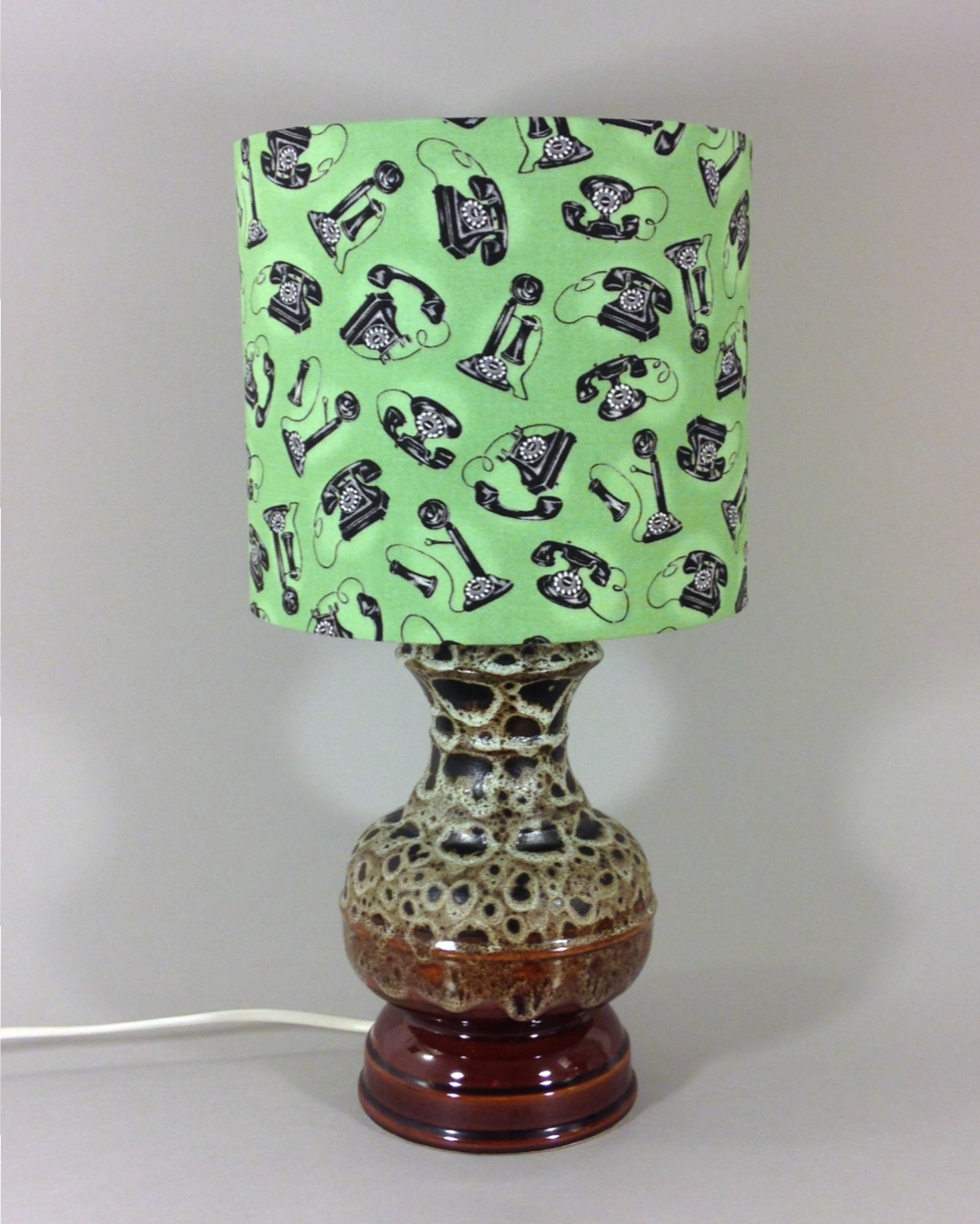 Call Me vintage lamp with handmade shade