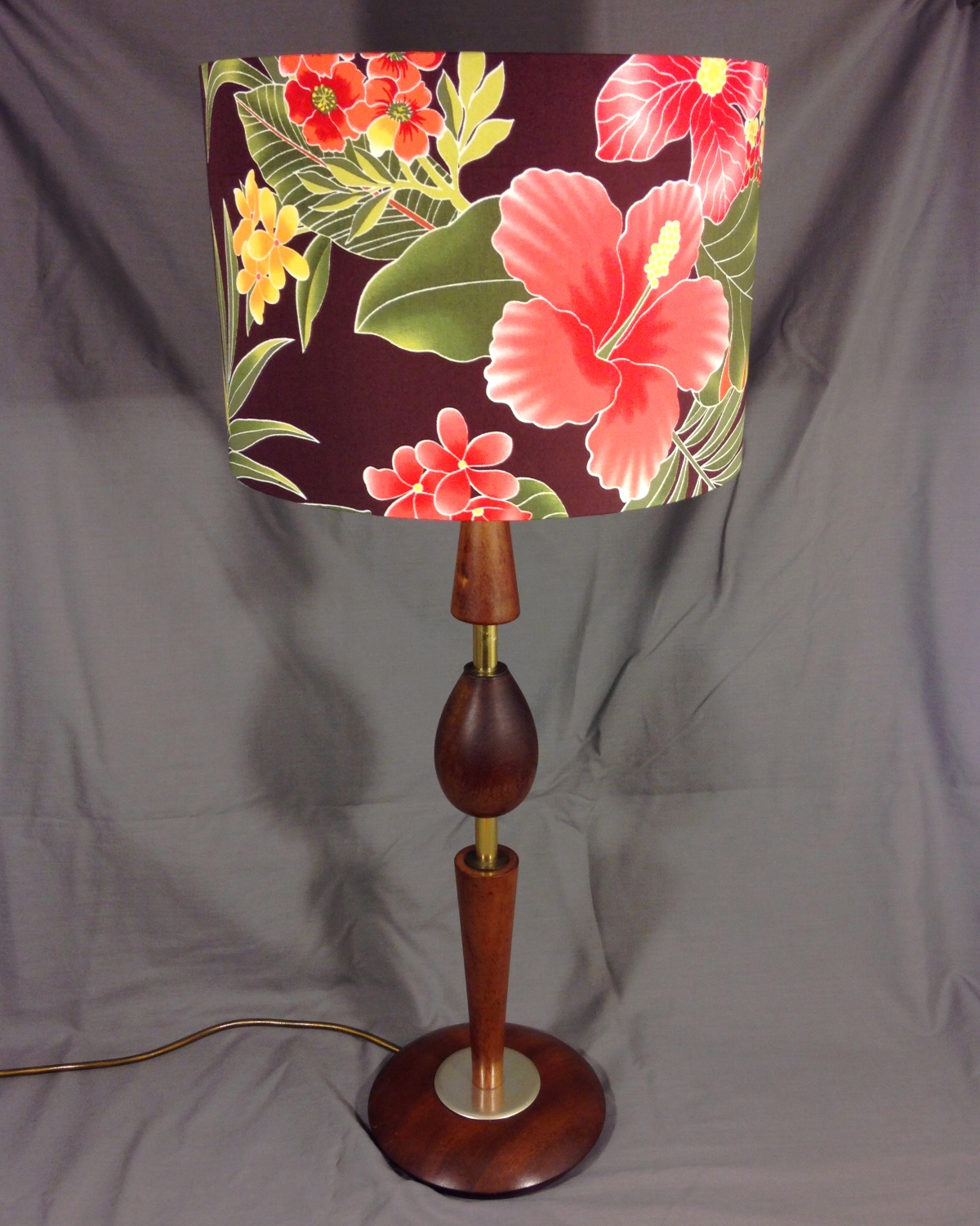 Hawaiian Tropic vintage lamp with handmade shade