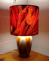 Pink Lava vintage lamp with handmade shade