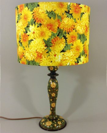 Imperial Gold vintage lamp with handmade shade