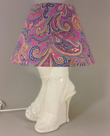 Happy Feet vintage lamp with handmade shade