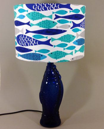 Something fishy vintage lamp with handmade shade