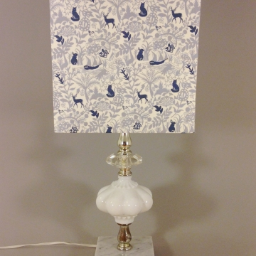 'Winter Wonderland' vintage lamp