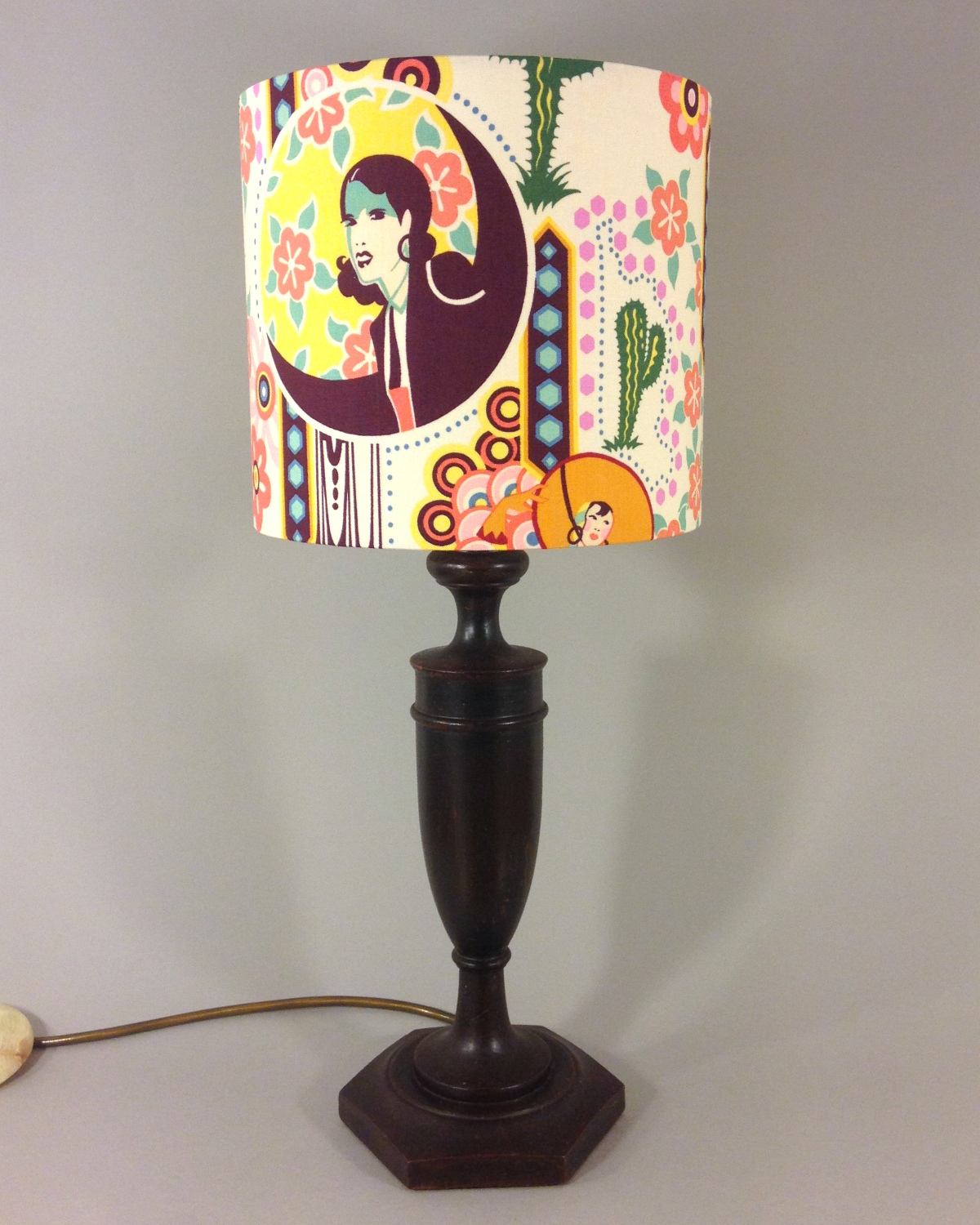 Deco Desert vintage lamp with handmade lampshade