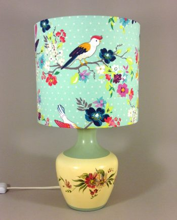 Doris Day vintage lamp with handmade shade