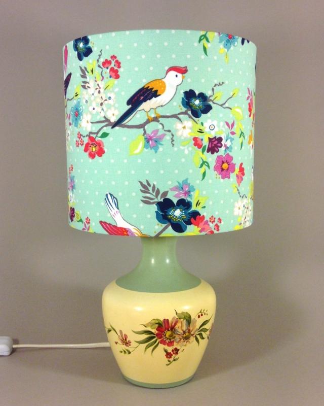 Doris Day vintage lamp with handmade shade