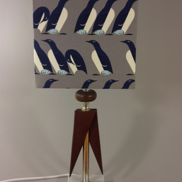 'March of the Penguins' vintage lamp