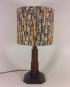 New York Nights vintage lamp with handmade shade
