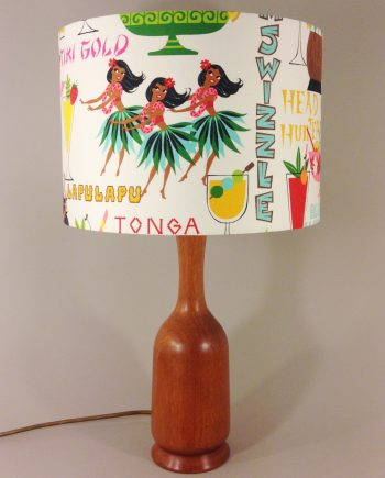 Rum Punch vintage lamp with handmade shade