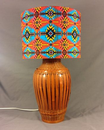 Aztec Surprise vintage lamp with handmade shade