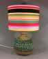 Disco Stripe vintage lamp with handmade shade