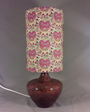 Kitty Rose Vintage Lamp with handmade shade