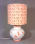 Cats Eyes vintage lamp with handmade shade