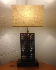 It All Adds Up vintage lamp with handmade shade