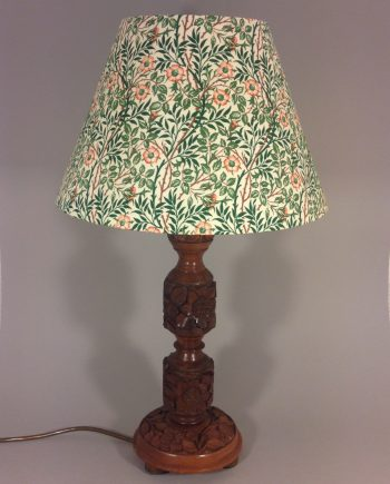 Sleeping Beauty vintage lamp with handmade shade