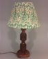 Sleeping Beauty vintage lamp with handmade shade