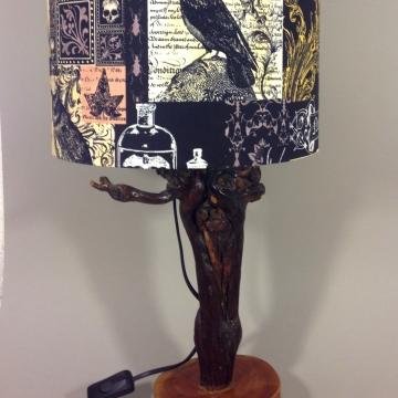 'The Raven' vintage lamp