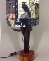 The Raven vintage lamp with handmade shade