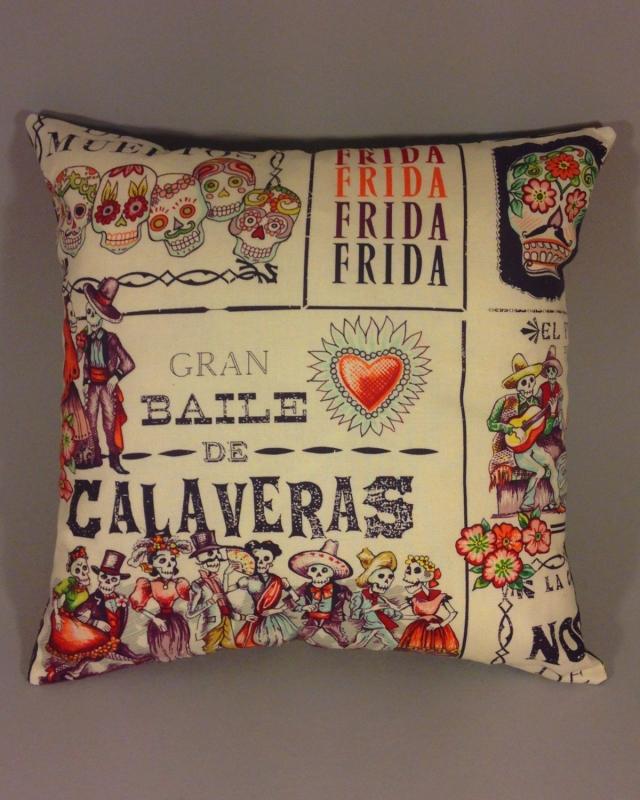 Baile de Muertos handmade scatter cushion