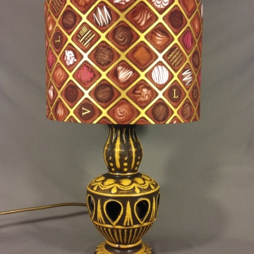 'Chocolate Factory' vintage lamp