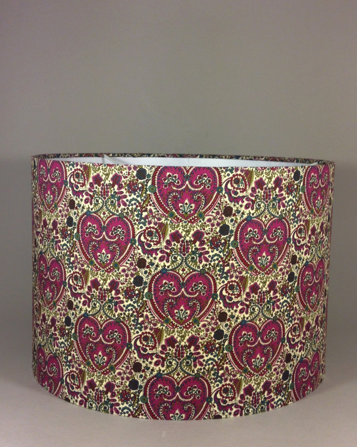 Bespoke lampshade made with Liberty 'Kitty Grace' fabric