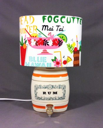 Mai Tai vintage lamp with handmade shade