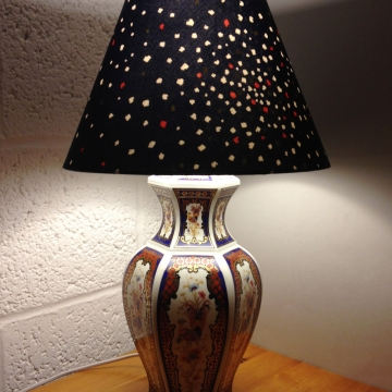 Order of the Phoenix vintage lamp with handmade shade