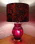Red Light Spells Danger vintage lamp with handmade shade
