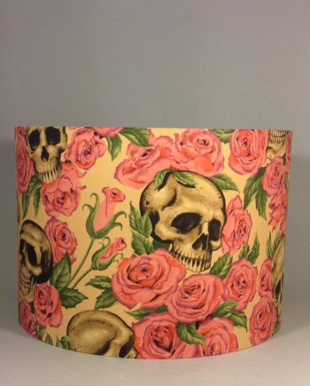 Bespoke lampshade made with Resting on Roses fabric