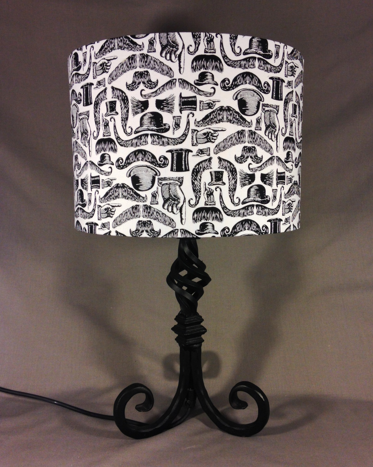 Suits You Sir vintage lamp with handmade shade