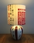 Fiesta vintage lamp with handmade shade