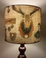 Home Sweet Home vintage lamp with handmade shade